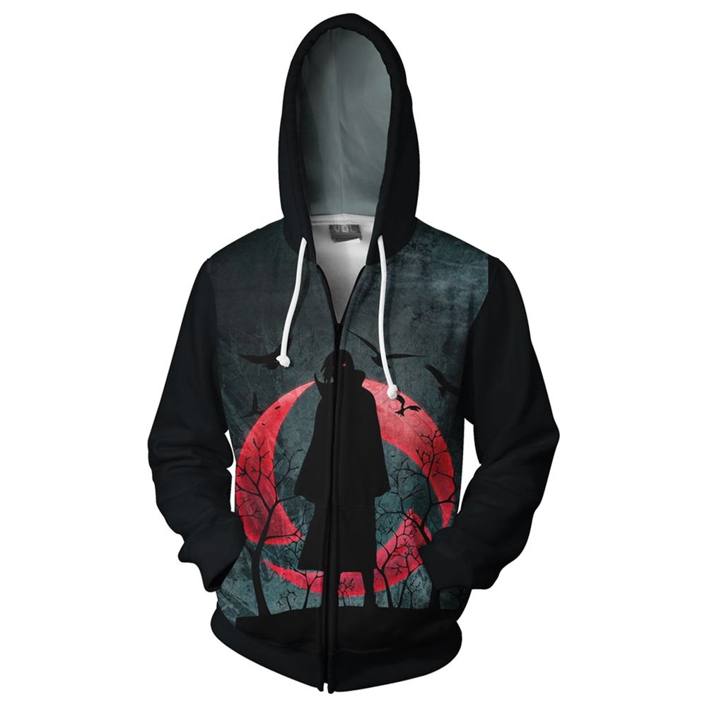 2018 New Fashion 3D Print Anime Naruto Hoodie Men Boruto Uchiha Itachi Tops Hoodies Sweatshirt Thin Zipper Coat Outfit Top 5XL