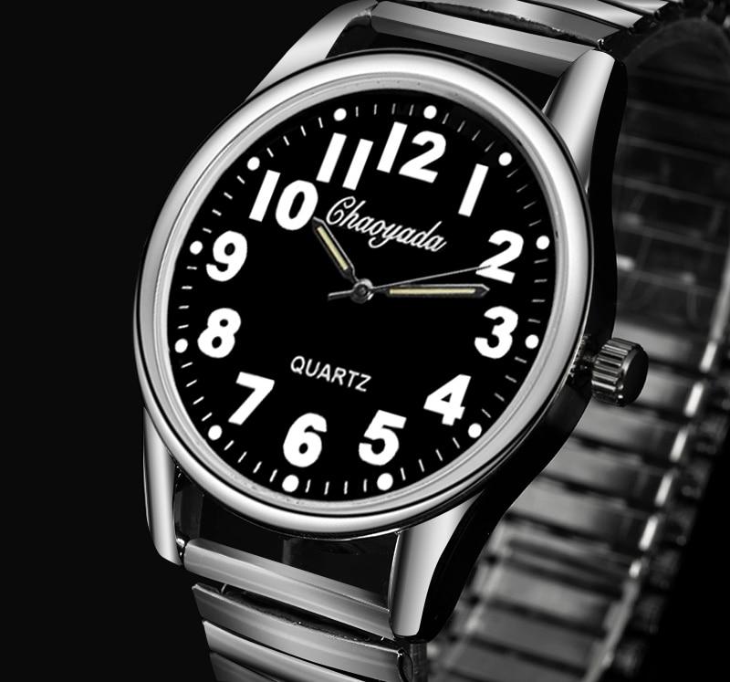 Men Watches New CYD Brand Relojes Flexible Elastic Strap Men Stainless Steel Luxury Fashion Wristwatch Father Relogio Masculino