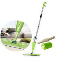 360 degree Rotatable Head Mop Household Mop Flat Cleaning Mops Home Floor Water Spray Cleaner Hand Tool