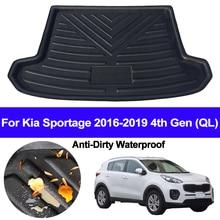 Araba arka Boot kargo Liner tepsi bagaj zemin halısı paspaslar halı Pad Mat Kia Sportage için 2016 2017 2018 2019 4th Gen QL