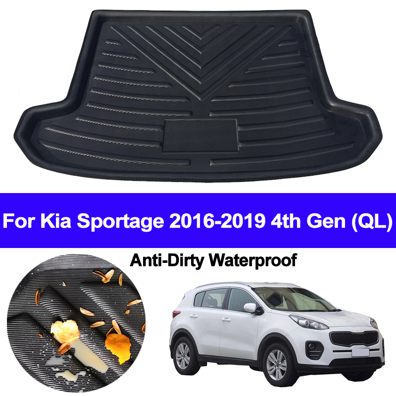 Car Rear Boot Cargo Liner Tray Trunk Luggage Floor Carpet Mats Carpets Pad Mat For Kia Sportage 2016 2017 2018 2019 4th Gen QL