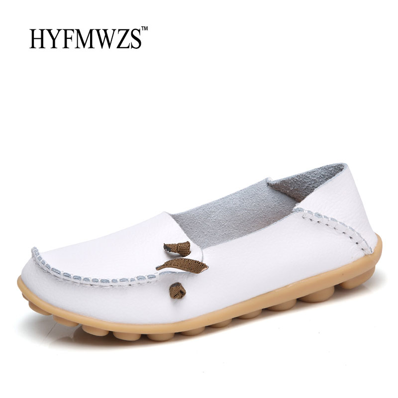 HYFMWZS Big Size 35-44 Women Loafers Fashion Designers Flats Ballet Shoes For Women Slip-On Breathable Flat Shoes Zapatos Mujer fashion tassels ornament leopard pattern flat shoes loafers shoes black leopard pair size 38