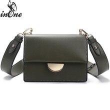 INONE Luxury High Quality Messenger Shoulder Crossbody Bags for Women 2019 Big Metal Lock Rivet Handbag Purse in Solid Black