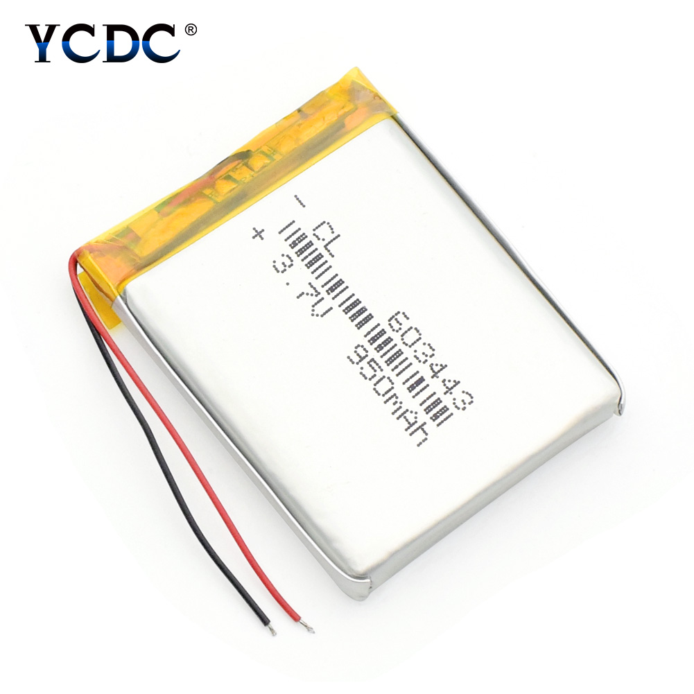 1/2/4pcs High Capacity 950mah 3.7V Li-polymer Battery 603443 Rechargeable Lithium Batteries For MP4 MP5 GPS Camera Tablet PC