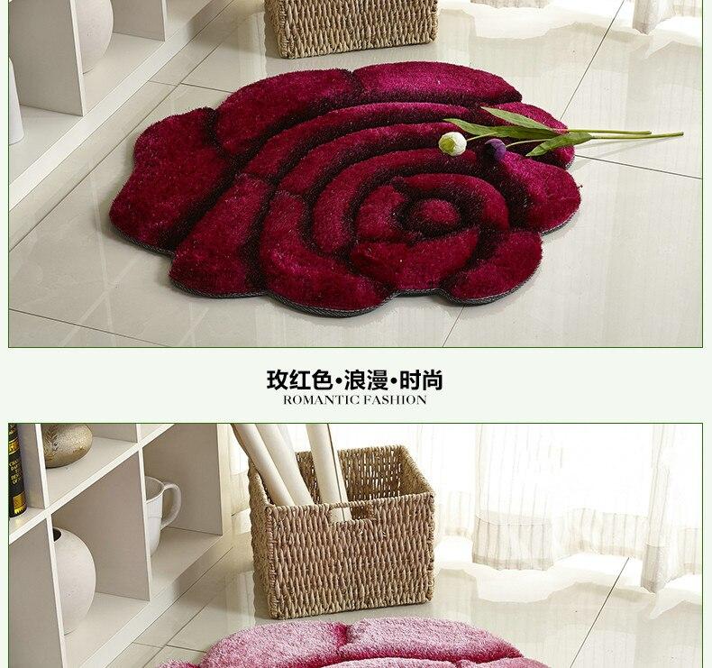 3D стерео ковер с розами журнальный столик для гостиной коврик диван кровать спальня коврики Европейская мода на заказ ковер