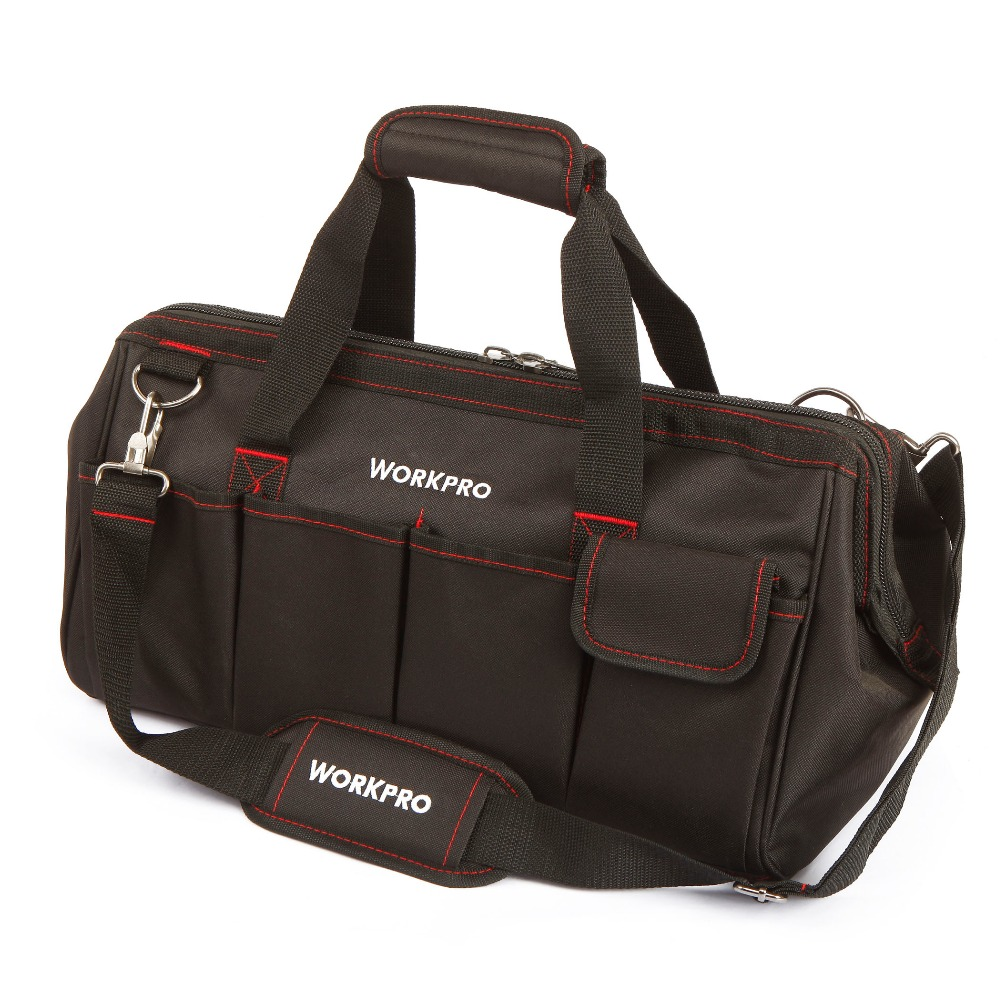 ФОТО WORKPRO 18 Waterproof Travel Bags Men Crossbody Bag Tool Large Capacity