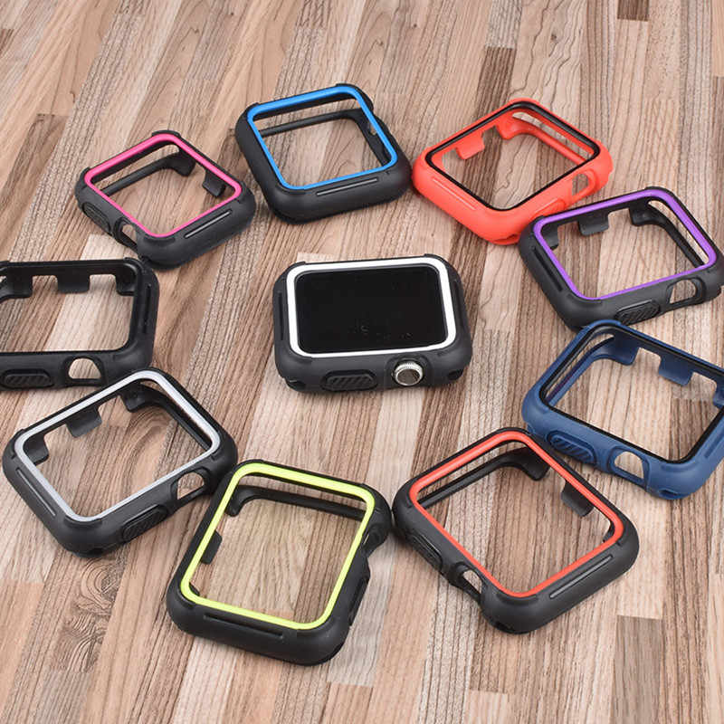 Cover Voor Apple Horloge Case 44 Mm 40 Mm 42 Mm 38 Mm Siliconen Protector Nike + Band Bumper Iwatch serie 5 4 3 38 40 44 Mm Accessoires