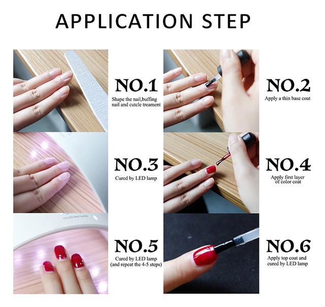 Belle Fille Base and Top Coat Gel Nail Polish UV 10ml Transparent Soak Off Primer Gel Polish Gel Lacquer Nail Art Manicure