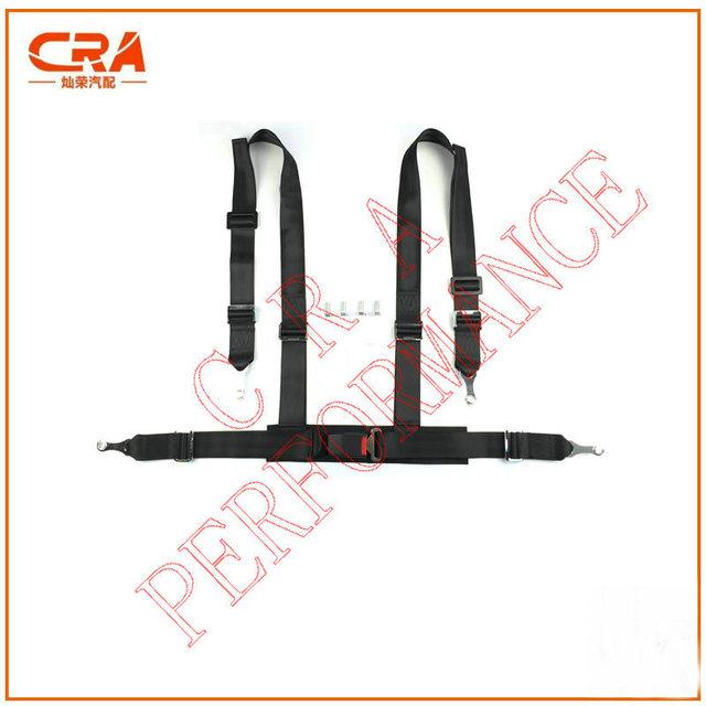 """CRA Performance-2 """"de $ number puntos/2 pulgadas 4-point Hebilla Negro Racing Harness/Cinturón de Seguridad Del Coche/Cinturones de Seguridad Auto sin logo"""