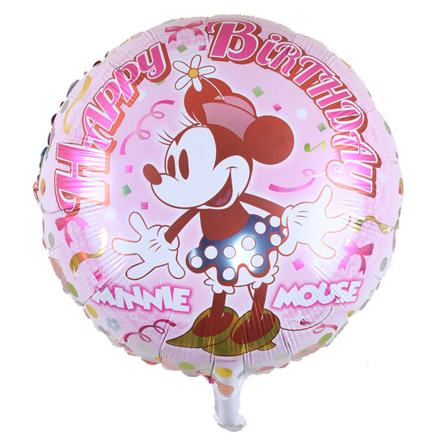 2pc Lot New Arrival Minnie Mouse Happy Birthday Balloon Decoration