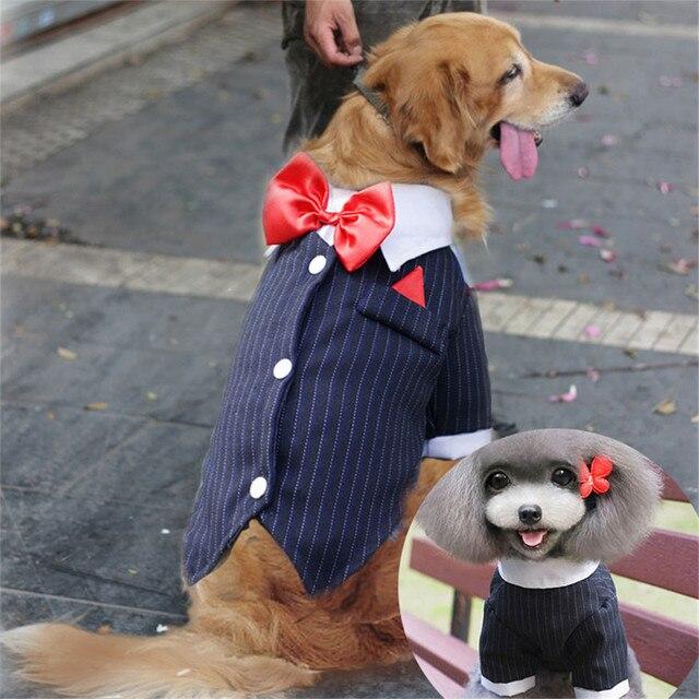 Aliexpress.com : Buy Striped Big Dog Suit Formal Tuxedo Large Pet Clothes  BowTie Wedding Dinner Party Male Dog Costume Shirt Festival Jacket(2XL 9XL)  ...