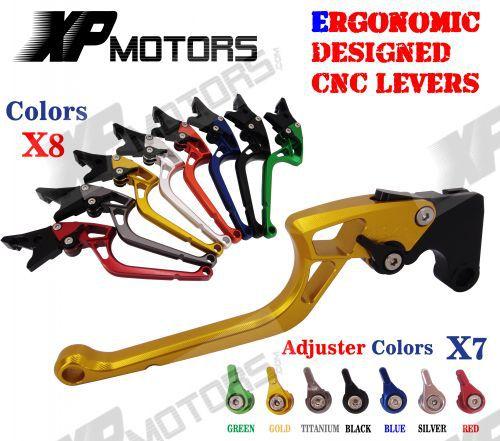ФОТО Ergonomic  CNC Adjustable Right angled 170mm Brake Clutch Levers Triumph Daytona 675 2006 07 08 09 10 11 12 13