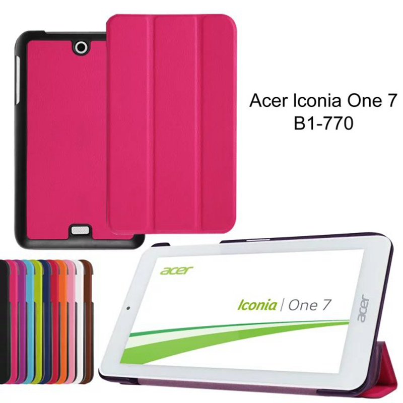 New Case For Acer one 7 B1-770 7.0 Tablet Slim Stand PU Leather Cover case Tablet Cover Case+Film+Stylus Pen