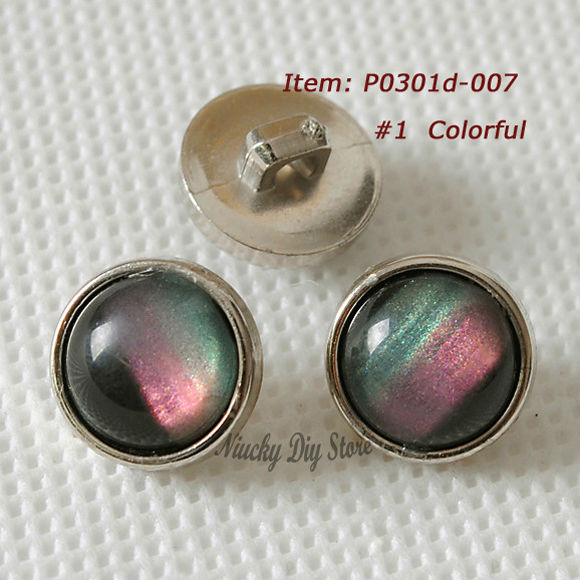 Super colorful imitation pearl gem shirt buttons and fashion buttons 12mm