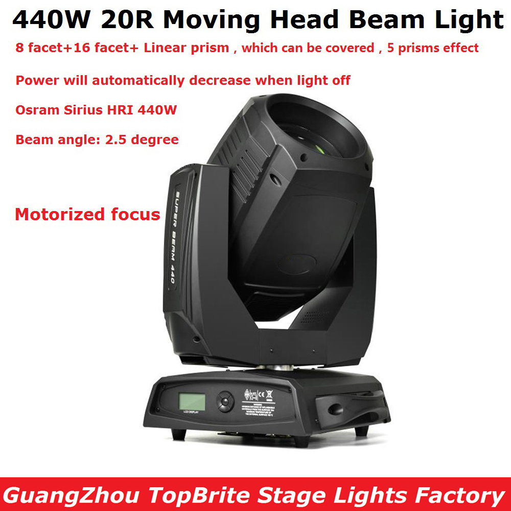 2017 New Design 440W Super Beam Moving Head Spot Lights High Power 20R 440W Stage DJ Spot Light With Motorized Focus Function 2xlot led moving head spot lights 330w led lamp high power professional led moving head light lcd display 5 35 motorized focus