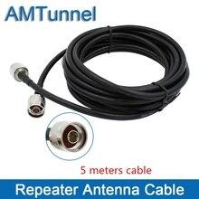 Репитер кабельный усилитель для наружной антенны и внутренней антенны с N штекерным разъемом коаксиальный кабель 5 метров
