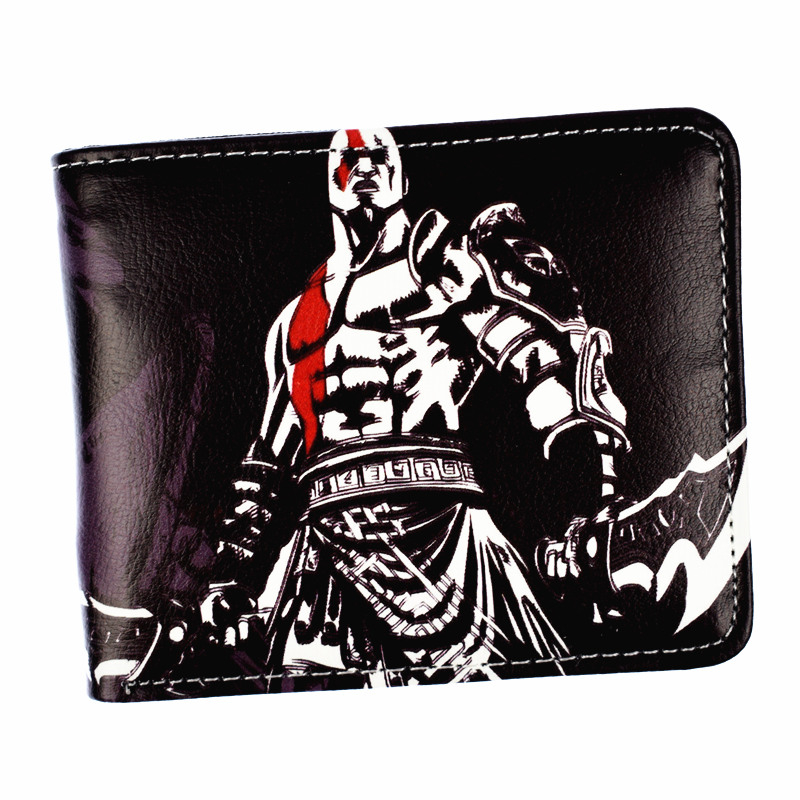 FVIP New Arrival Game God of War Wallet Kratos Design Short Purse Coin Purses god of war statue kratos ye bust kratos war cyclops scene avatar bloody scenes of melee full length portrait model toy wu843