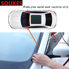 Car Windshield Edges Gap Rubber Sound Seal Strip Sticker For Chevrolet Cruze Aveo Captiva Lacetti TRAX Sail Epica Lada Granta 2x car 3m sticker eagle eye drl light for chevrolet cruze aveo captiva lacetti trax sail epica for acura mdx rdx tsx