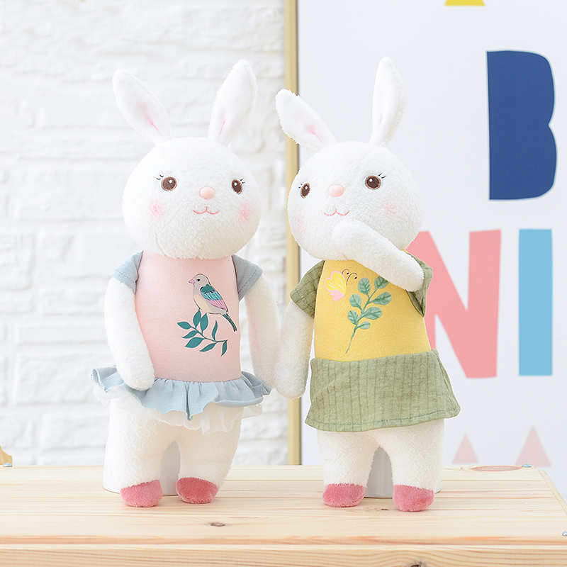 11b82e388802 1pc 42cm cute rabbit wear cloth with dress plush toy stuffed soft ...