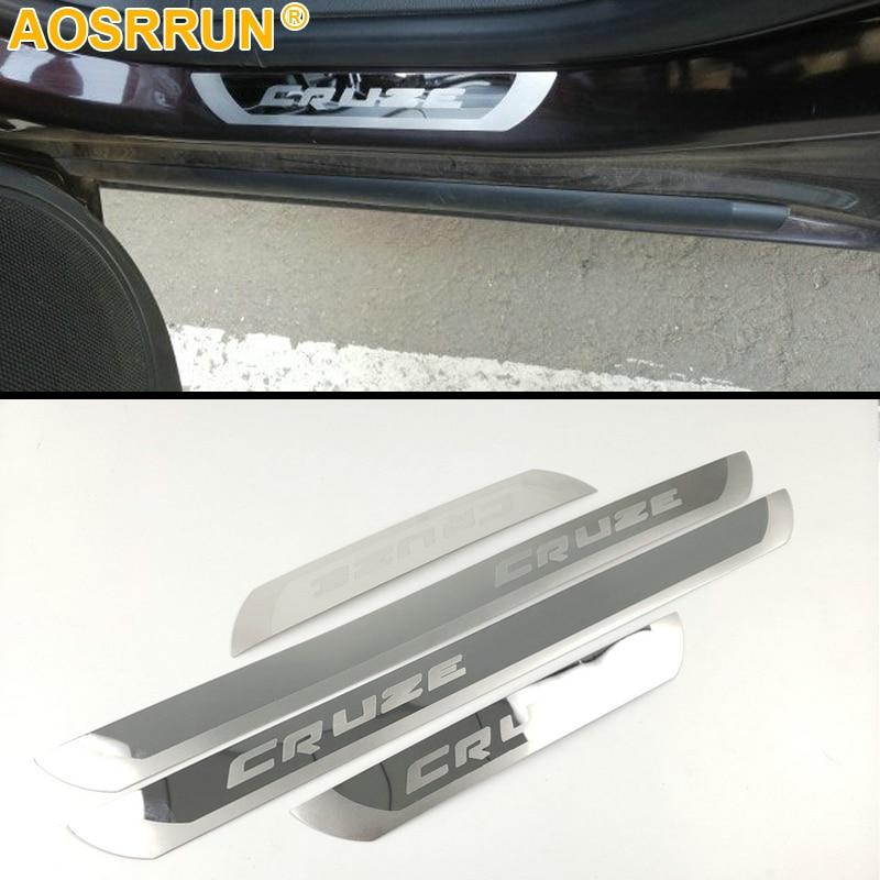 4pcs steel CHRYSLER PT CRUISER since 2001 Car Door Sill Protector