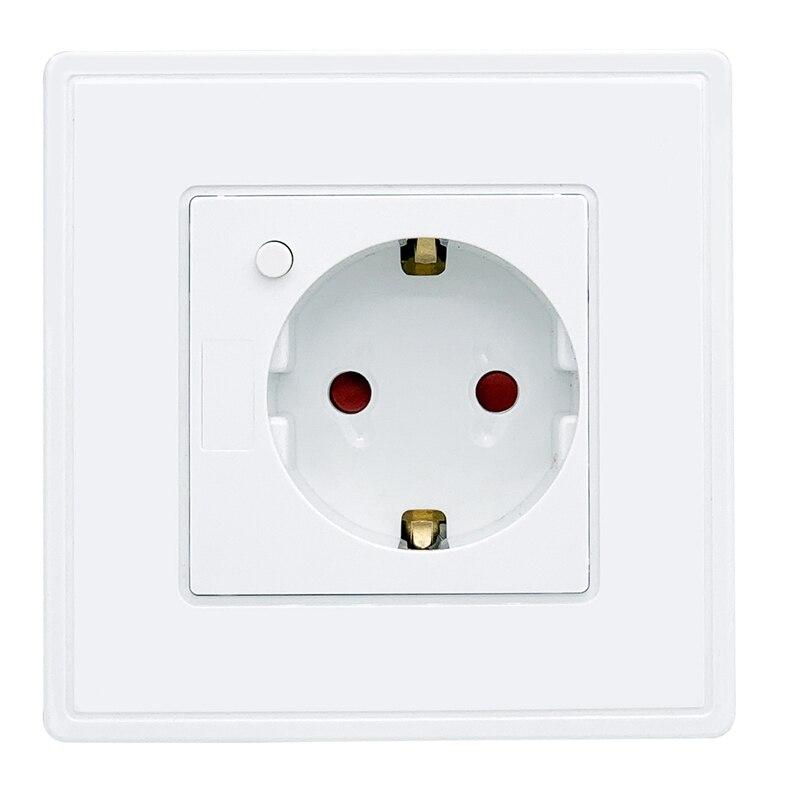 Eu Standard Power Plug Socket , White Plastic Pc Panel, Ac 90~250V 10A Wall Outlet Kitchen SocketEu Standard Power Plug Socket , White Plastic Pc Panel, Ac 90~250V 10A Wall Outlet Kitchen Socket