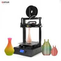 Impressora 3d de alta resolução reprap 3d com guia linear trilhos estoque na ue/eua impressora 3d ortur 4 v2/v1 impresora 3d