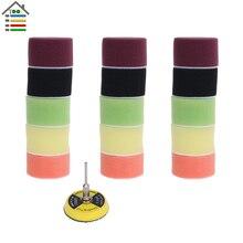 16pcs 2 inch Sanding Disc Sponge Polishing Pad 50mm Dia for Dremel 3000 4000 Mini Grinder Car Waxing Hook and Loop Rotary Tool