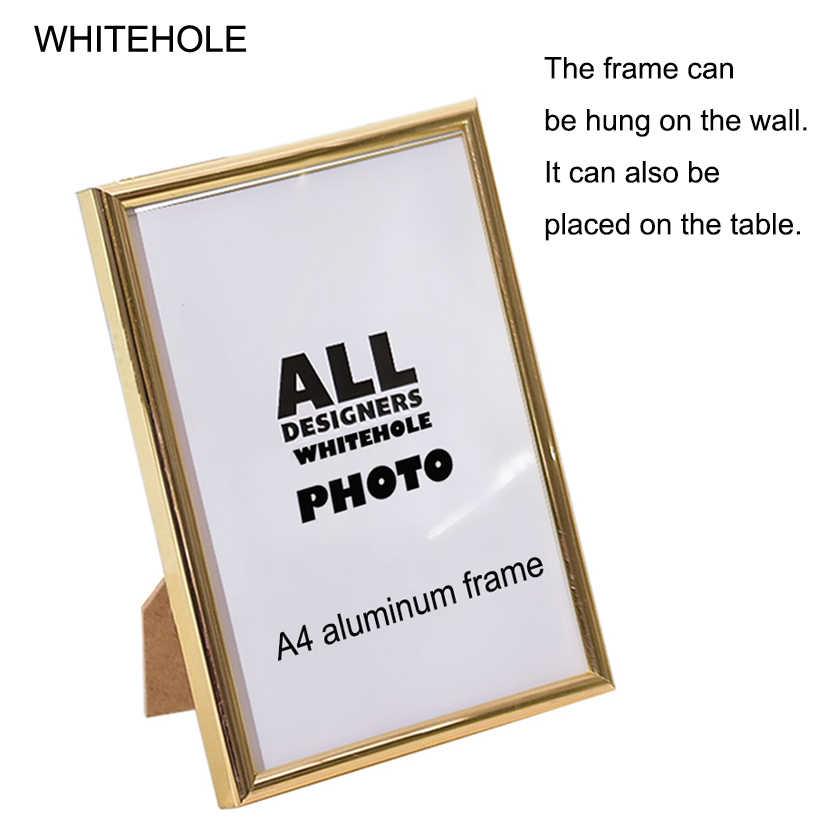 3Pcs/Set Picture Frame Metal Certificate Photo Frame 10x15 15X20cm A4 21x30cm Pleixglass Inside Golden Black Silver Poster Frame