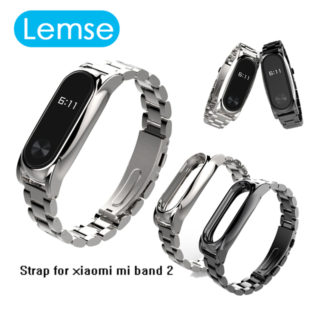 2017 New Metal Strap For Xiaomi Mi Band 2 Screwless Stainless Steel Bracelet For MiBand 2 Wristbands Replace Strap For Mi Band 2