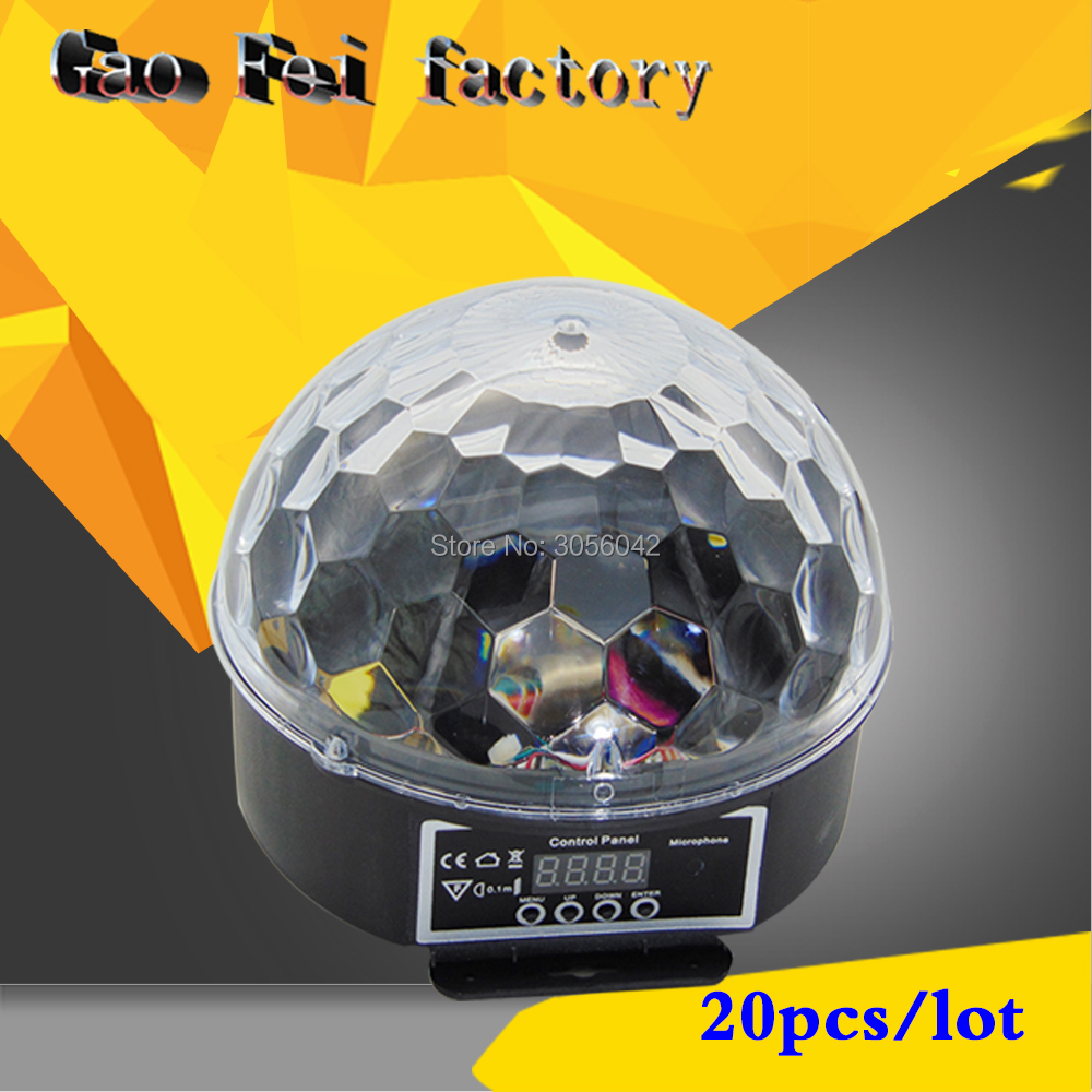 20PCS/LOT Music Crystal Magic RGB LED Stage Lights For Party Ball Disco light Nightclub with Remote20PCS/LOT Music Crystal Magic RGB LED Stage Lights For Party Ball Disco light Nightclub with Remote