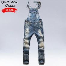 Мужская Большие джинсы Комбинезоны для девочек большой Размеры огромный Джинсовые штаны на лямках мода карманные Комбинезоны мужской 4Xl 5Xl 3Xl