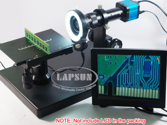 180x inspektion zoom monokular c mount objektiv led ringlicht