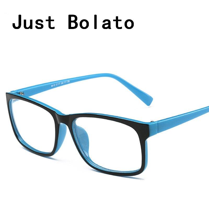dbbd6808b8 New Square Eyeglasses Frames Men Eyeglasses Black Frame With Clear Glasses  Computer Eye Glasses Women Eyewear Myopia Designer-in Eyewear Frames from  Apparel ...
