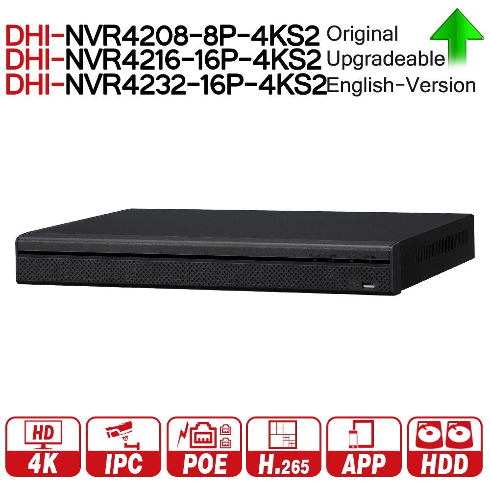 DH NVR4208-8P-4KS2 NVR4216-16P-4KS2 NVR4232-16P-4KS2 с PoE Порты и разъёмы 4k разрешение H.265 для IP Камера безопасности Системы