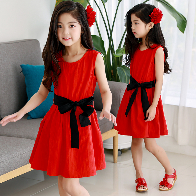 New Arrivals Baby Girl Dress 2018 Summer Casual Dresses Cotton Kids Sleeveless Clothes Children's Wear Princess Clothing 13 14 T unini yun 2 7t girl dress baby kids summer flower cherry backless sundress girl cotton sleeveless princess beach casual dresses