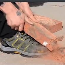 Breathable Safety Work Shoes Men Summer Anti-smashing Anti-piercing Steel Toe Cap Man Casual Plus Size 47 48 Wholesale