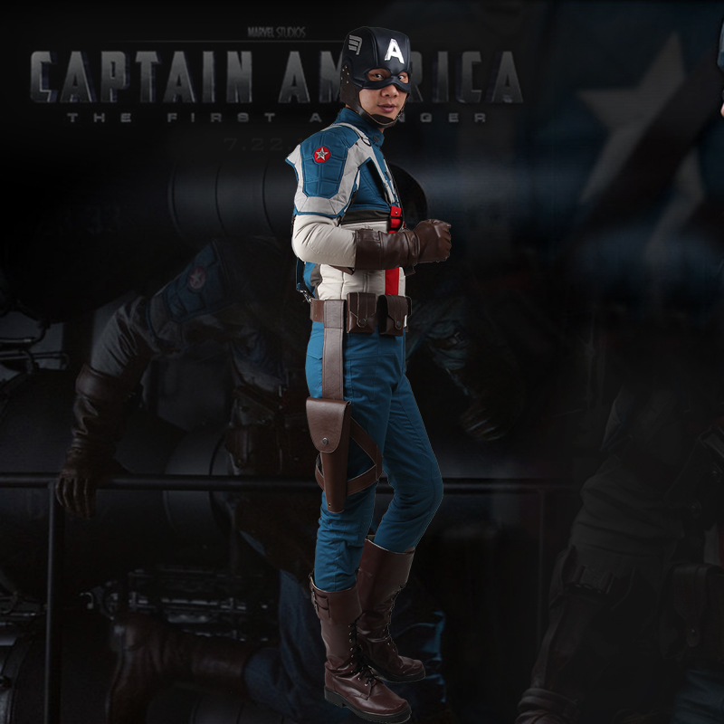 Manles Captain America The First Avenger Cosplay Costume Steven Steve Rogers Cosplay Clothing Halloween Adult Superhero Outfit