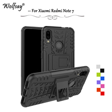 Xiaomi Redmi Note 7 Case Shockproof Armor Rubber Silicone Hard Phone For Back Cover