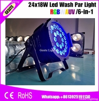 6pcs/lot China Supplier Indoor 24x18W RGBAW UV 6in1 Led Par Stage Light|led par stage lights|stage light|rgbaw uv -