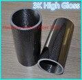 500mm 3 k tubo de fibra de carbono 24mm 25mm 26mm 27mm 28mm 29 30mm 30mm 32mm 34mm (rollo envuelto) peso ligero, alta resistencia