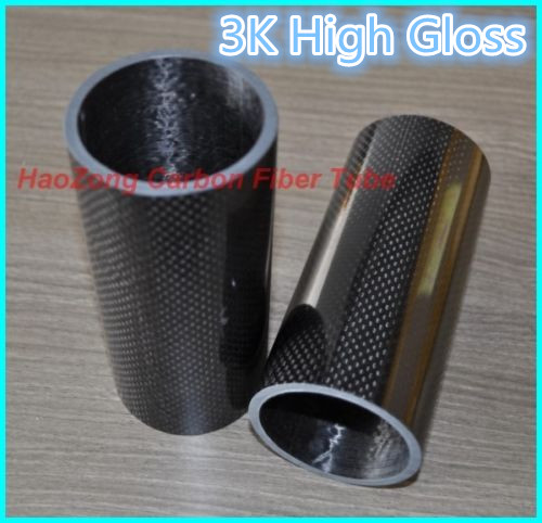500mm 3k Carbon Fiber Tube 24mm 25mm 26mm 27mm 28mm 29 30mm 30mm 32mm 34mm (Roll dibungkus) Light Weight, High Strength