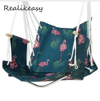 Multicolore extérieur jardin plage Patio cour balançoire hamac Style nordique suspendu chaise respirant balançoire décontracté adulte parc LFB1