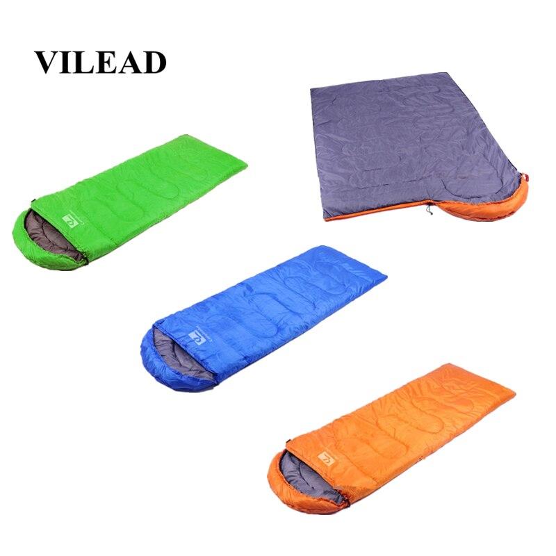 VILEAD 3 Colors Ultralight Sleeping Bag 190*30*70cm Waterproof Lightweight Camping Stuff Hiking Sleeping Summer Adult Camp Quilt-in Sleeping Bags from Sports & Entertainment