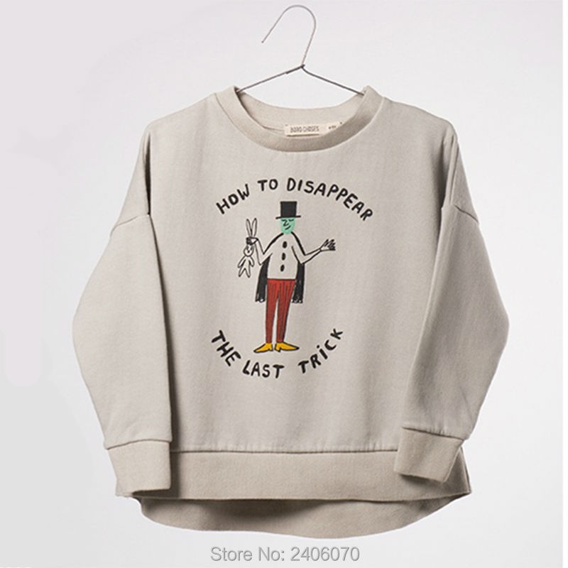For Boys Girls Clothes T-Shirts Sweater Autumn Winter New style Baby Kids Magician Printing Tees Tops Children Clothing Cotton 6