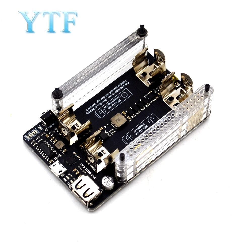10pcs UPS Power Extension Board With RTC Measurement 5V Output, Serial Port Function 5V 3A+USB Data Cable Raspberry Pi 2 Pi 3 B+