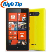Original entsperrt Nokia Lumia 820 Windows handy WIFI GPS 8MP Dual core 8 GB internen speicher Renoviert durch freies verschiffen(China)