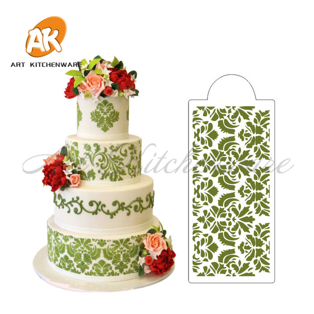 European Style Cake Stencil Wall Stencils For Painting, Spray Paint Stencil  Plastic Art Stencils Kitchen