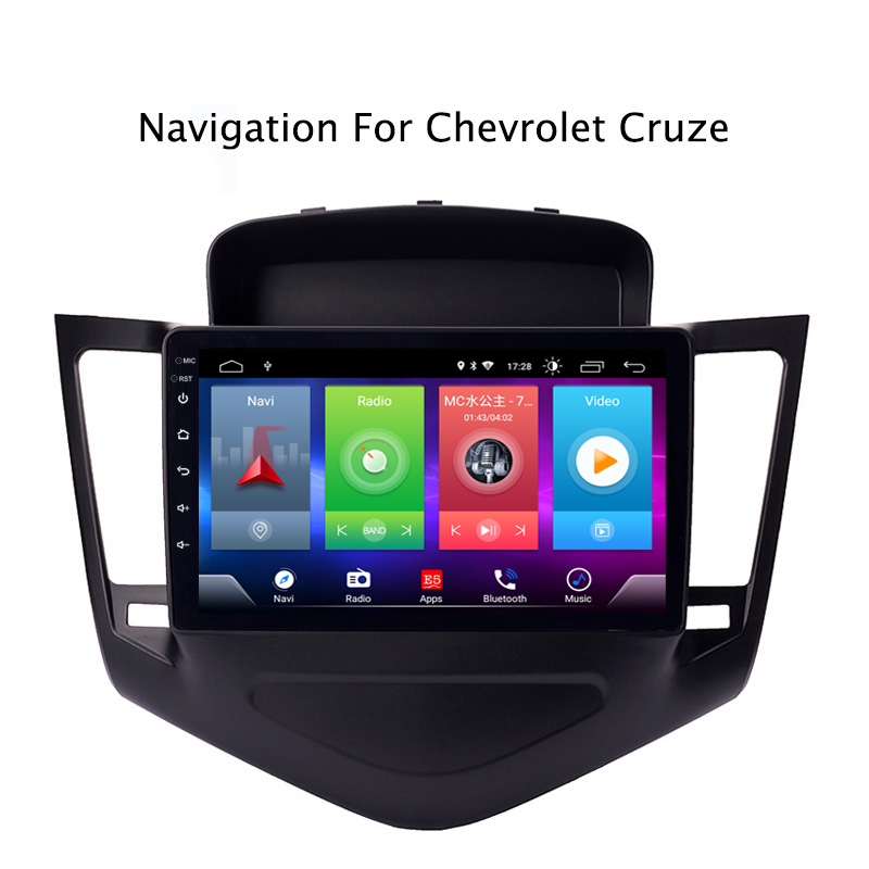 Car Android 8.1 Multimedia Player for <font><b>CHEVROLET</b></font> <font><b>CRUZE</b></font> 2009-14 GPS Navigation Device <font><b>USB</b></font> bluetooth steering wheel control support image
