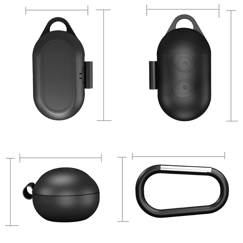 Image 5 - Clamshell Opening Anti shock Flexible Silicone Comprehensive Protective Case Full Cover for Samsung Galaxy Buds Sports Bluetooth-in Earphone Accessories from Consumer Electronics