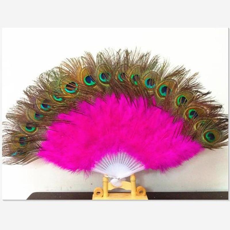 5a6d045e4 2016 10 ألوان عالية الجودة مرحلة الأداء الدعائم الرقص الطاووس الريش تركيا  ريشة للطي المراوح اليدوية الشعبية الجميلة مشجعين